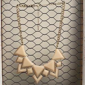 Francesca's Cream & Gold Statement Necklace